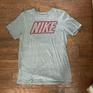 Nike Grey and Red T-Shirt